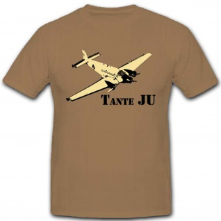 Tante Ju Flugzeug Luftwaffe WK WH Ju 52 Deutschland T Shirt #2846