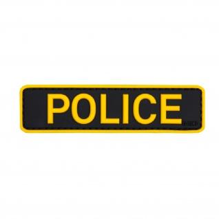 Patch Aufnäher Police Polizei Einsatz Spezialeinheit Wachmeister 2, 5x9cm #20285