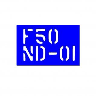 Lackierschablone F50 ND 01 Schablone Lackieren Auto Schrifthöhe 7cm A4772