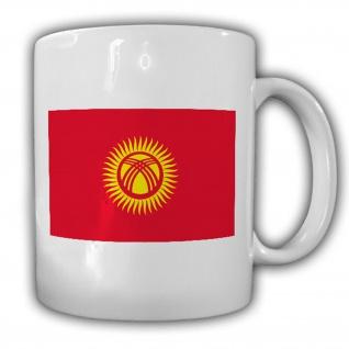 Kirgisistan Flagge_Fahne Kirgisische Republik Kaffee Becher #13543