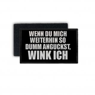 Patch Winken Aufnäher Fun Glotzen Gaffer Stalker Humor Lustig 7, 5x4, 5cm #34430