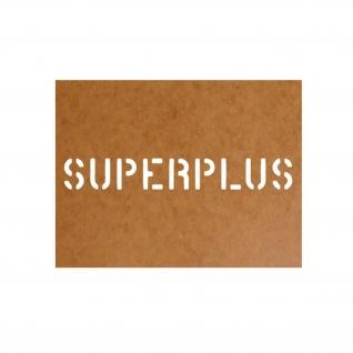 Superplus Benzin Sprit Ölkarton Lackierschablone 2, 5x18cm #15104