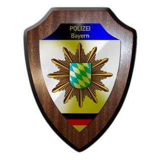 Wappenschild Polizei Bayern Wappen Abzeichen Nürnberg Dienstzeit Polizist #23082