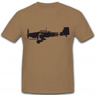 Ju87 Flugzeug Schlachtflieger Offizier Luftwaffe Stuka Pilot - T Shirt #3988