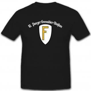 10PzDiv - Panzer-Division Militär Deutschland Regensburg- T Shirt #9939