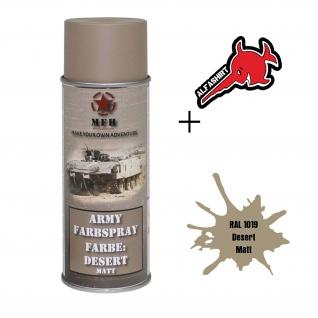 Army Farbspray RAL 1019 Desert Matt Graubeige Militär Restaurieren Farbe#31725