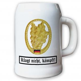 Krug / Bierkrug 0, 5l - Barettabezeichen Jäger Truppe BW Bund Infantrie #10919