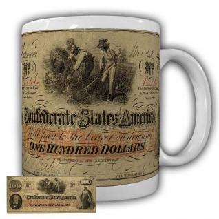 Confederate 100 Doller Tasse Hodgenville Sezessionskireg Geld Amerika USA #22613