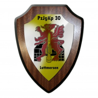 Wappenschild PzJgKp 30 Panzerjägerkompanie 30 Panzer Bw Abzeichen Wappen #13165