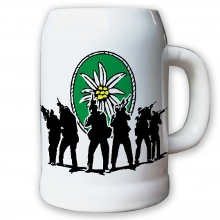 Krug Bierkrug 0, 5l - Gebirgsjäger Bataillon Gebirgsjägerbataillon GebJgBtl #9195