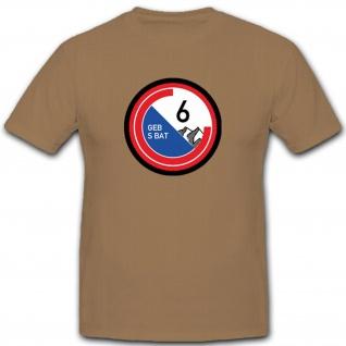 Gebirgsschützenbataillon 6 Armee Schweizer Abzeichen Emblem - T Shirt #3696