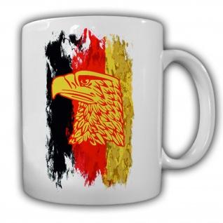 Tasse Deutschland schwarz rot gold Adler_Flagge Bundesrepublik Wappentier #14073