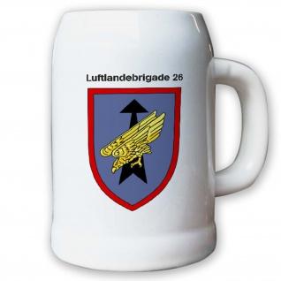 Krug / Bierkrug 0, 5l -Bierkrug 7. Luftlandebrigade 26 Einheit BW #12971