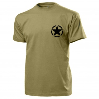 Allied Star United States Army GI Uniform Abzeichen Logo Militär T Shirt #15481