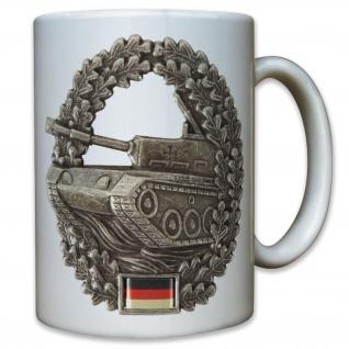 Panzer Abzeichen Bundeswehr Barett Kampfpanzer Leopard Wappen - Tasse #9551