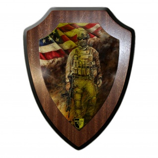 Wappenschild Lukas Wirp US Marine im Feuersturm USA Fahne Flagge Amerika #24102