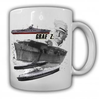 Flugzeugträger B Graf Marine Deutschland Klasse Geheim Sammler - Tasse #17585