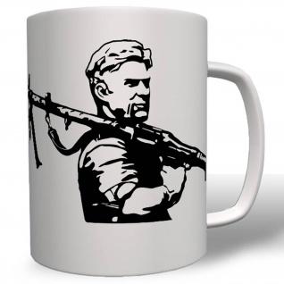 Deutscher Soldat Militär WK 2 MG 34 Kampf Einsatz - Tasse Kaffee Becher #16483