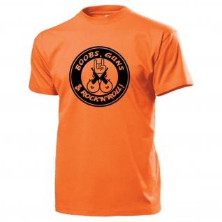 BOOBS GUNS ROCK N ROLL Humor Fun Waffen Brüste Sexy Rock ?n? Roll T Shirt #15703