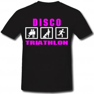 Nuttenpreller Prostituierte Freier Disco Triathlon Humor Spaß- T Shirt #1412