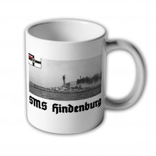 Tasse SMS Hindenburg Großer Kreuzer kaiserliche Marine WK 1 Schlacht #31439