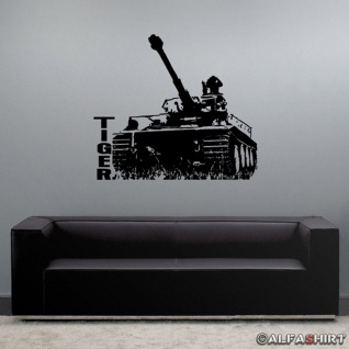 Panzerkampfwagen VI Tiger Panzer Dekoration Wohnzimmer Wandtattoo 51x45cm A501