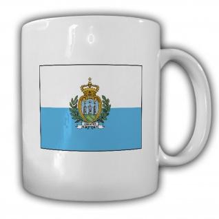 Republik San Marino Fahne Flagge Kaffee Becher Tasse #13880