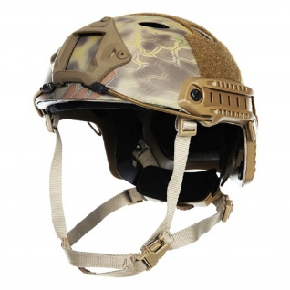 Mich Fast Helm Mandrake Snake Camo Tarn Airsoft Special Black camouflage #18734