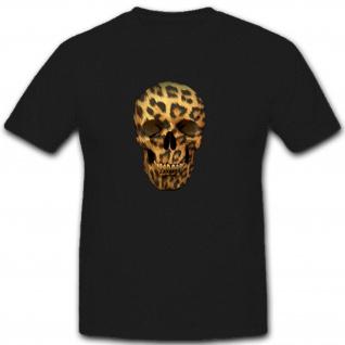 Totenkopf mit Fell Schädel Skull - T Shirt #8203 - Vorschau 1
