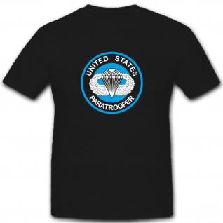 Us Paratrooper Fallschirmspringer Militär Fallschirmjäger T Shirt #2926