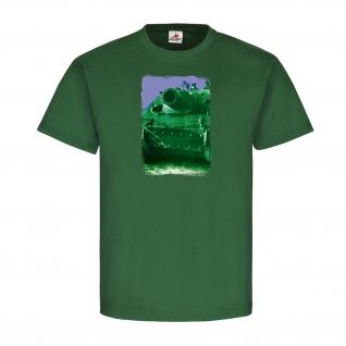 Panzer Kurzes Rohr Militär WOT WW2 2WK Heer Koloriert Alfashirt T-Shirt #20981