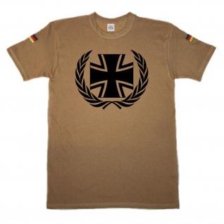 BW Kreuz und Kranz Eisernes Kreuz EK original Tropenshirt nach TL #14651