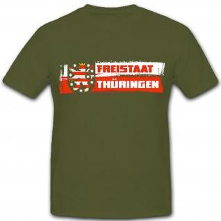 Freistaat Thüringen Bundesland Deutschland Erfurt Fahne - T Shirt #9222
