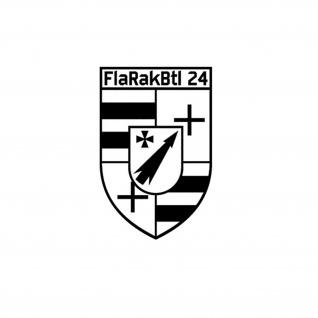 Aufkleber/Sticker FlaRakBtl 24 Flugabwehr Raketen Bataillon 24 15x10cm A601