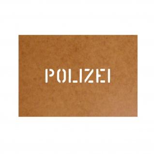 Police Polizei Stencil Ölkarton Lackierschablone 2, 5x11cm #15256