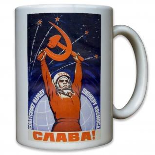 Weltraum Wostok Kosmos CCCP UDSSR Astronauten Russland - Tasse #11610