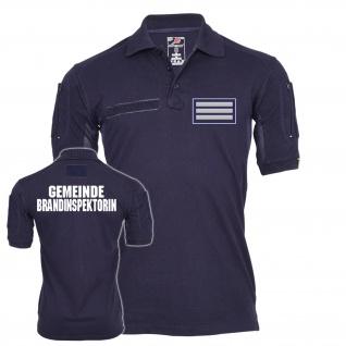 Tactical Polo Shirt Gemeinde Brandinspektorin Arbeitskleidung Feuerwehr #23538