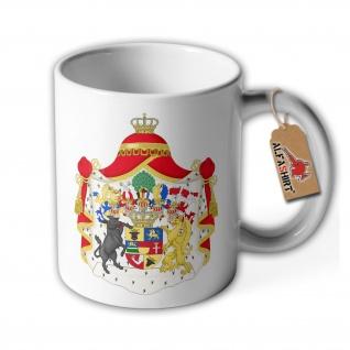 Tasse Mecklenburg - Strelitz Wappen Grossherzogtum Grosses Emblem #35627