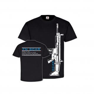 FN Scar mit Daten Gewehr Gamer Cod NATO Waffe Deko Airsoft - T Shirt #26624