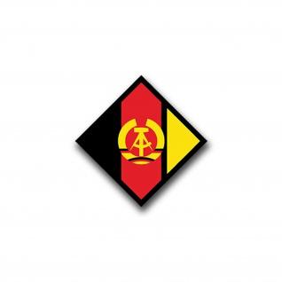 Aufkleber/Sticker NVA Wappen Nationale Volksarmee Mauer DDR Wappen 7x7cm A816