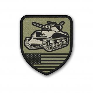 Patch US Army Tank M4 Sherman WW2 Aufnäher#37154