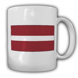 Republik Lettland Fahne Flagge Latvijas Republika - Kaffee Tasse #13677