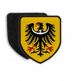 Patch Wappen Schlesien Adler Krone Wappentier Gelb Aufnäher Stadtwappen #21843