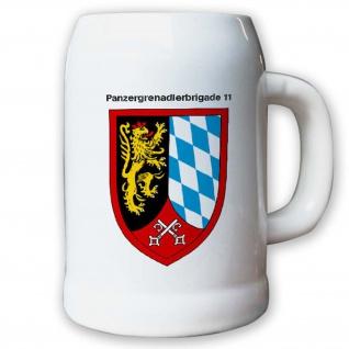 Krug / Bierkrug 0, 5l -24.Bierkrug Panzergrenadierbrigade 11 PzGrenBrig #12988