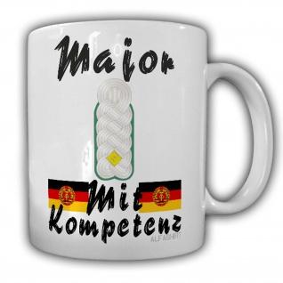 Major des Rückwärtigen Dienstes Tasse Schulterklappe Dienstgrad DDR NVA #24231