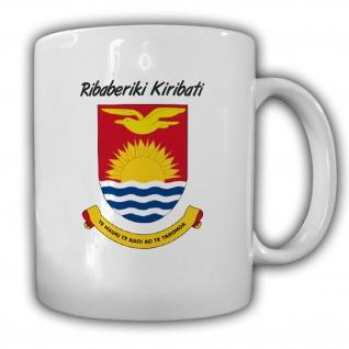 Wappen von Kiribati Emblem Republik Mikronesiens Polynesiens - Tasse #13643
