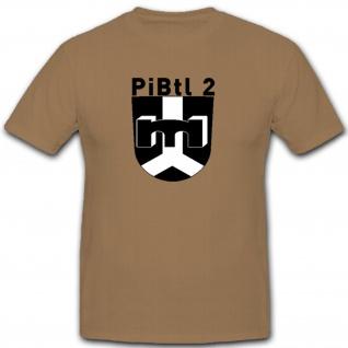Pibtl 2 Bundeswehr Wappen Abzeichen Deutschland Militär - T Shirt #7661