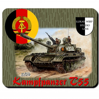 Mauspad Lukas Wirp NVA Kampfpanzer T55 Gemälde Maler 7 PzDiv #26058
