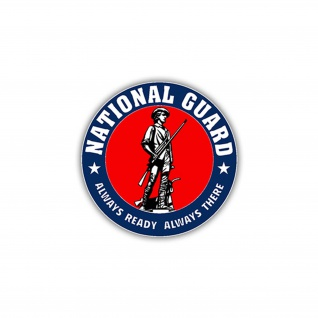 Aufkleber/Sticker National Guard USA Militär US Army Armee Einheit 7x7cm A1110