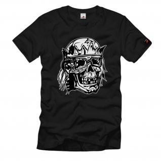Schädel 22 Skull zerstört Totenkopf Krone Szene Style Kult Biker - T Shirt #775